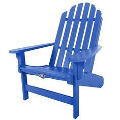 Essentials Blue Adirondack Chair (Blue), Size Single, Patio Furniture (Durawood)