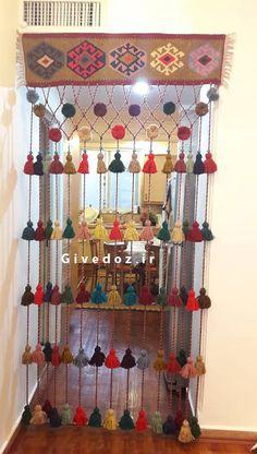 یکی از راه های زیباتر شدن فضای منزل استفاده از سردری سنتی می باشد - وبلاگ گیوه دوز Wall Decor Crafts, Creative Wall Decor, Diy Crafts For Home Decor, Cd Crafts, Wall Hanging Crafts, Rope Crafts, Craft Stick Crafts, Handmade Crafts, Diy Craft Projects