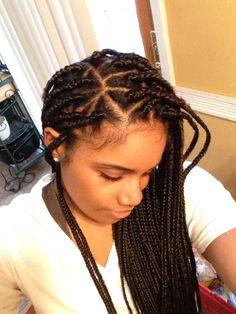 Triangle part braids