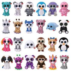 Ty Mini Boos - Series 1 description is coming soon Ty Beanie Boos Collection, Ty Peluche, Paw Patrol Figures, Mini Boo, Ty Boos, Ty Stuffed Animals, Whale Plush, Original Beanie Babies, Beanie Buddies