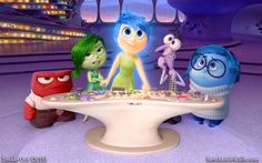 Pixar`s Inside Out ~ Joy, Anger, Disgust, Fear and Sadness :]