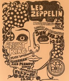 simplybek:    Led Zeppelin and Albert King in Toronto, Feb 1969