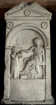 Ancient Roman Art | Funerary monument to Krino. Marble. Late 2nd cent. B.C. Verona, Museum ...