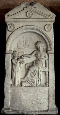 Ancient Roman Art   Funerary monument to Krino. Marble. Late 2nd cent. B.C. Verona, Museum ...