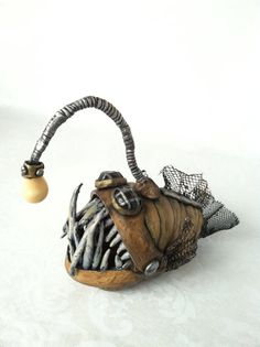 Handmade Steampunk Anglerfish Sculpture by RooskyHansky on Etsy, $49.99