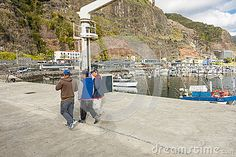 Marina in Calheta town on south side of the  Madera Island , Portugal. Europe.