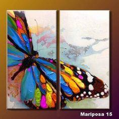 Resultado de imagen para cuadros abstractos coloridos con espatula+pajaros