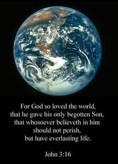 John 3:16, little else matters.