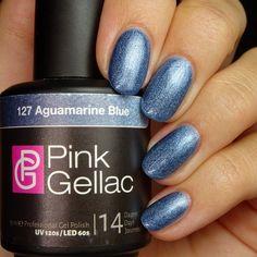 Pink Gellac 127 Aquamarine Blue Gel-Nagellack via pinkgellac.de