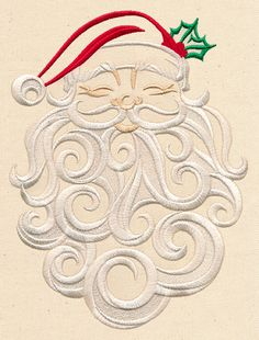 Whirling Swirling Santa | Urban Threads: Unique and Awesome Embroidery Designs