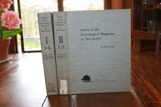 Index to the Genealogical Magazine of New Jersey Volume I and II, 1973, Genealogy, Family Search, Family History, State of New Jersey by CarisHome on Etsy