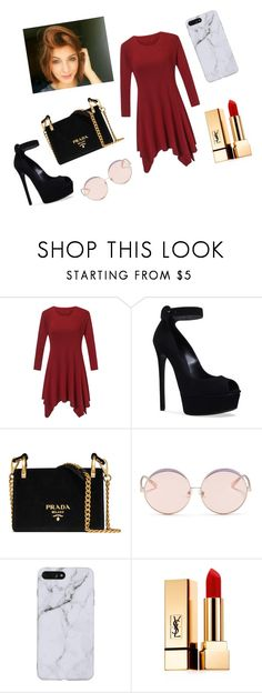 """Untitled #21"" by heybruhcassettari on Polyvore featuring Casadei, Prada, N°21 and Yves Saint Laurent"