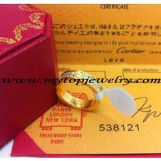 Cartier Love Ring - Cartier Love Ring Yellow Gold Diamonds - 75 usd