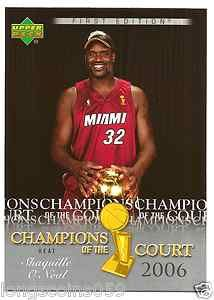 2007/08 Upper Deck First Edition Champions Of The Court Shaquille O' Neal.