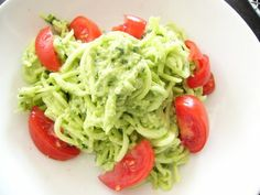 Zucchini Noodles with Wild Leek Pesto