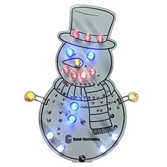 DIY Electronic Kit - Snowman Christmas Ornament with Lights and Sound -- Read more at the image link.