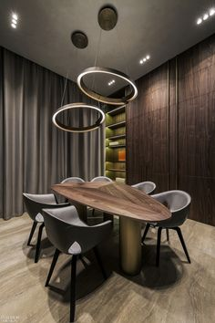 YoDezeen Opts for Sleek Aesthetics in Kiev ReFuture Clinic Interior Design Pictures, Office Interior Design, Office Interiors, Meeting Table, Meeting Rooms, Table And Chair Sets, Home Furnishings, Home Furniture, Sweet Home