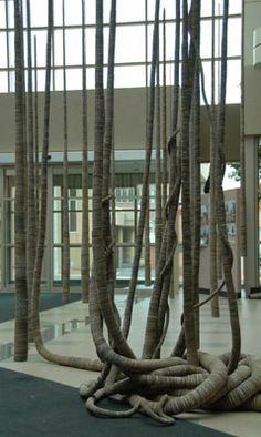Tracy Luff Switch  Fluted Cardboard 800cm x 800cm x 800cm (h x w x d) Venue: Burnie City Council Atrium, Tasmenia