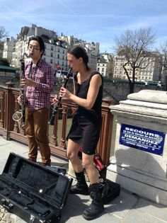 They were pretty good! It's unusual to see a clarinet AND a bass clarinet being played on the street. Bass Clarinet, Street Musician, Praise The Lords, Pretty Good, Musical Instruments, Musicians, Paris, Facebook, Clarinet