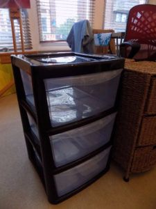 Plastic Side Table With Drawers