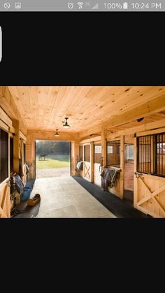 Horse barn, stalls