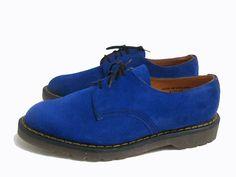 Vintage John Fluevog Shoes Men's Vibrant Blue by Atomicfireball, $145.00