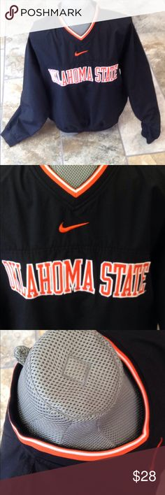 Nike pullover Oklahoma State pullover with side zipper. Perfect condition. 💥Offers welcome💥 Nike Tops