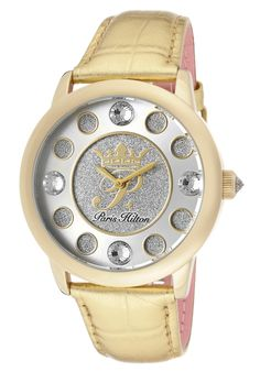 Price:$69.99 #watches Paris Hilton PH13181JSG-04, With designs that embody the effortlessly chic and carefree nature of Paris herself, the Paris Hilton timewear collection offers trend setting designs to suit any occasion. Paris Hilton, Suit, Watches, Nature, Accessories, Collection, Design, Fashion, Moda
