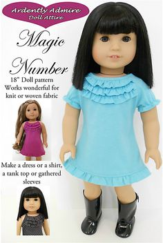 Dress and/or top for Springfield Doll or other 18 inch dolls