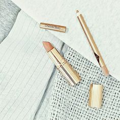 """#onSundaysWeWish and we wish for nudes! #PillowTalk lipstick and lip cheat lip liner (I want both and most probably as part of the @ctilburymakeup """"The Naturally Beautiful Date Look"""" kit!). by @lilypebbles"""