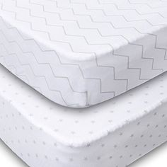Product review for Playard Sheets, 2 Pack Fitted Soft Jersey Cotton Playpen Sheet, Bedding with Unisex Chevron and Stars Design, Fits Standard Pack n Play Mattress for Babies and Toddlers.  - PAMPER YOUR LITTLE ONE WITH THE SOFTEST BABY PLAYARD SHEET YOU CAN FIND. Get the Benefits of these Soft and Fitted Playpen Sheets Made of 100% high quality soft jersey cotton. Lightweight and perfect for your baby's sensitive skin. Classic and gender neutral design of white and gra