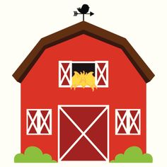 free clip art of a cute red barn and silo on a farm sweet clip art rh pinterest com barn clipart black and white barn clipart images
