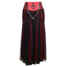 Nocturnis Sanguine Skirt - The Violet Vixen Sith Costume, Corset, Wicked Costumes, Alternative Fashion, A Boutique, Burlesque, Hosiery, Steampunk, Lingerie