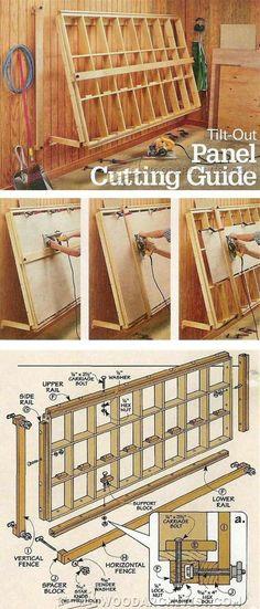 Vertical Panel Saw Plans - Circular Saw Tips, Jigs and Fixtures | WoodArchivist.com #WoodworkingTips