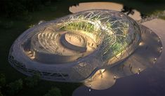 images: Glasshouse and open-air theatre in Debrecen – student plan of Sándor Donka Amphitheater Architecture, Auditorium Architecture, Theatre Architecture, Concept Architecture, Futuristic Architecture, Architecture Details, Architecture Models, Outdoor Stage, Outdoor Theater