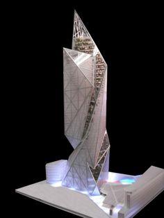 Vibrant Tour Signal La Defense, Competition Proposal For Paris - eVolo | Architecture Magazine #architecture ☮k☮