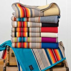 Pendleton wool serapes - new stripes inspired by vintage Pendleton serapes.