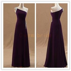 cheap floor length prom dresses under 150   discount custom colors elegant dress for evening    simple one shoulder party gowns hot on Etsy, $129.00