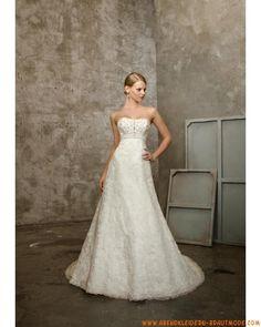 Schönes Brautkleid 2012 Bestverkauft aus Satin A-Linie mit Schleppe mit Applikation