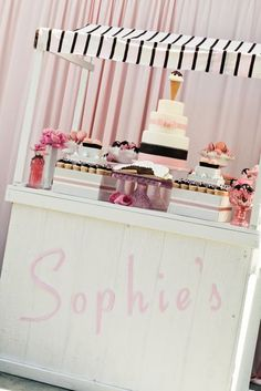 SO pretty and PINK! This site has more ice-cream party themes to check out.