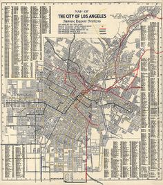 Los Angeles Railway System Antique Map Print (1906) - Archival Reproduction