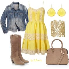 Lemon Country Spring Outfit by natihasi on Polyvore