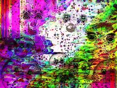Estampa de #cienciaficcion creada con el #gimp. Habitantes de un #planeta de otra dimension en el que junto con otros #seres fantasticos prolifera la especie de los cara bola. Ver más en: www.librecreacion.net www.sirenasinmar.blogspot.com www.facebook.com/SugarherArts Blog Fotografia, Anime, Painting, Facebook, Art, Photos, Art Background, Painting Art, Kunst
