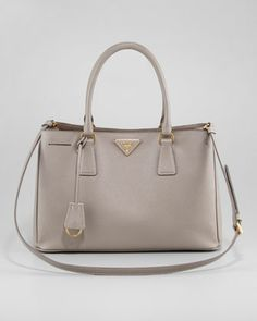Saffiano Lux Tote Bag, Small by Prada at Bergdorf Goodman.
