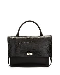 8aa468fcd470 V29AQ Givenchy Shark Medium Stamped Crocodile Bag