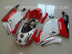 2003-2004 Ducati 749/999 Red, Green & White Fairings