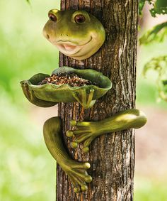 Look at this Frog Tree Feeder on #zulily today!