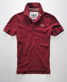 bd1a05c654cb3c Mens - Classic Pique Polo in Deep Ruby lemon Haze