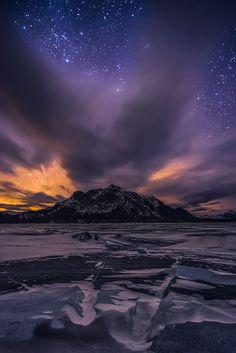 Broken Darkness by Artur Stanisz on 500px, Abraham Lake, Canadian Rockies