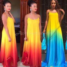 Womens Maxi Boho Summer Beach Long Skirt Evening Cocktail Party Dress